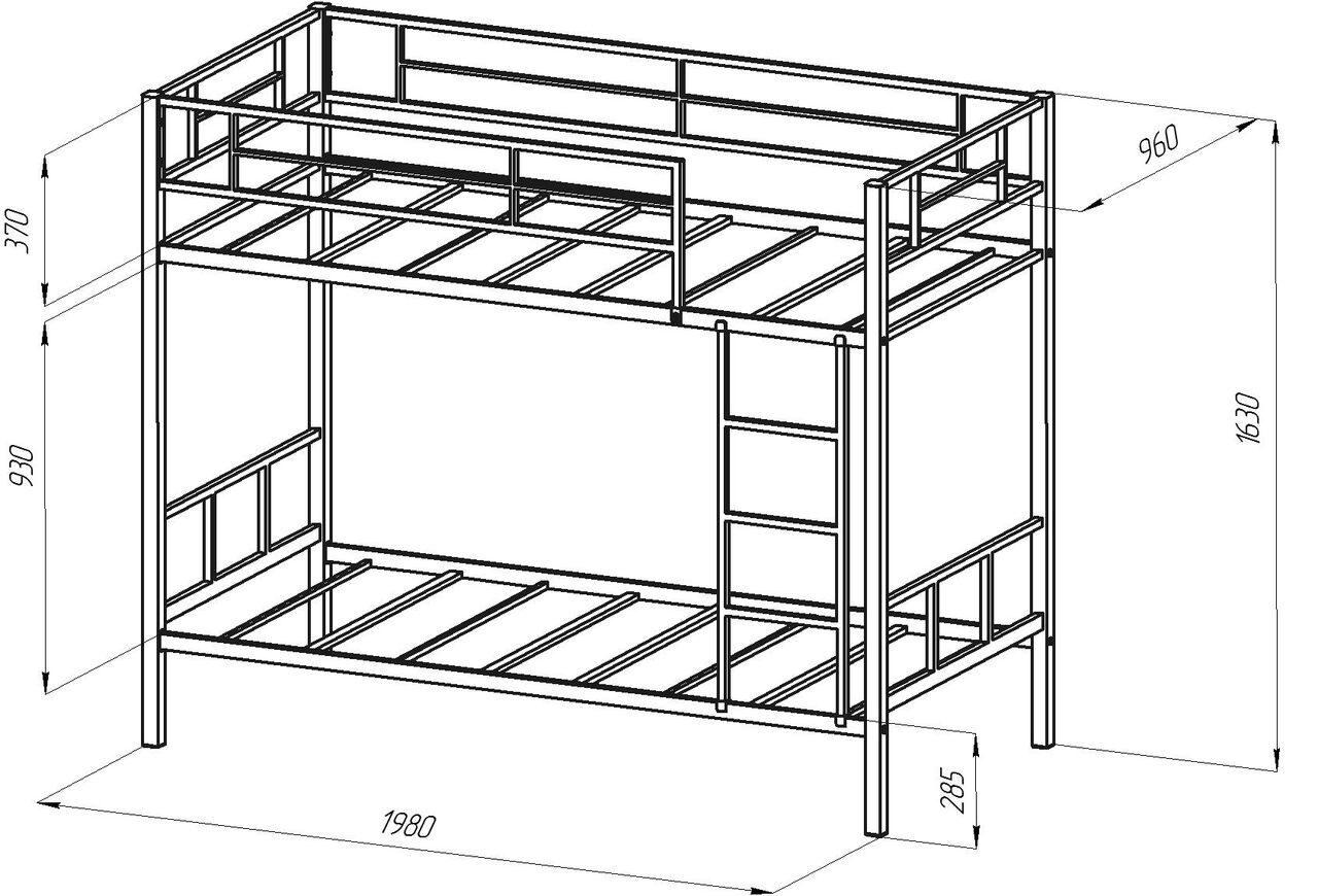 Схема двухъярусная кровать своими руками 10