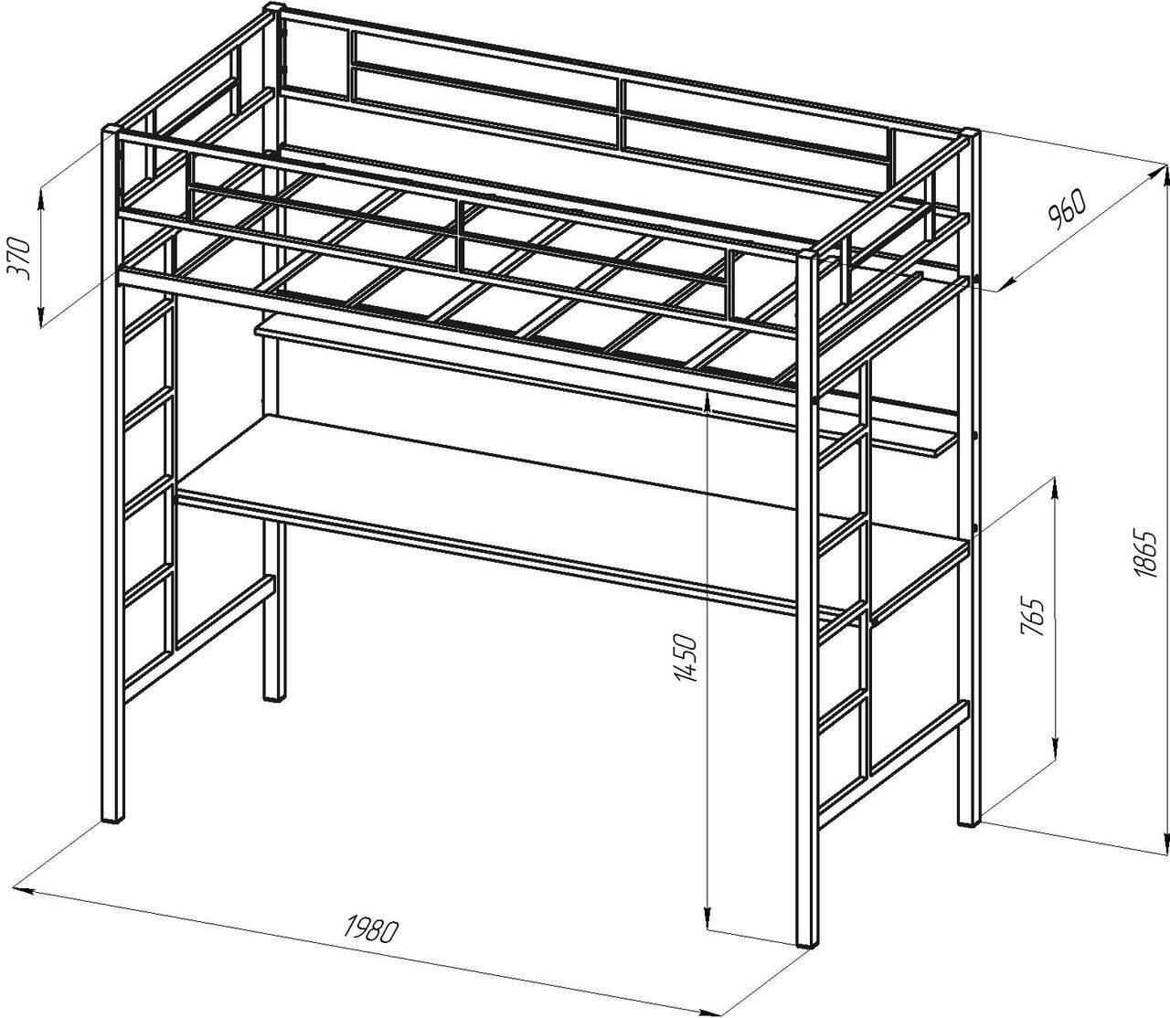 Металлическая кровать чердак